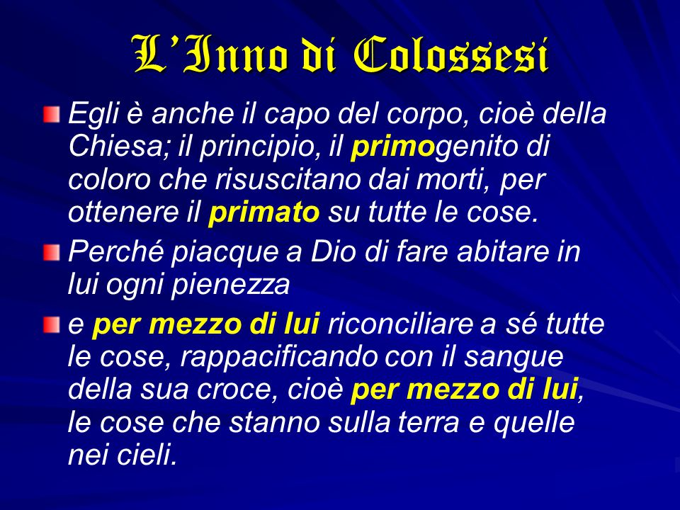 L'Inno di Colossesi