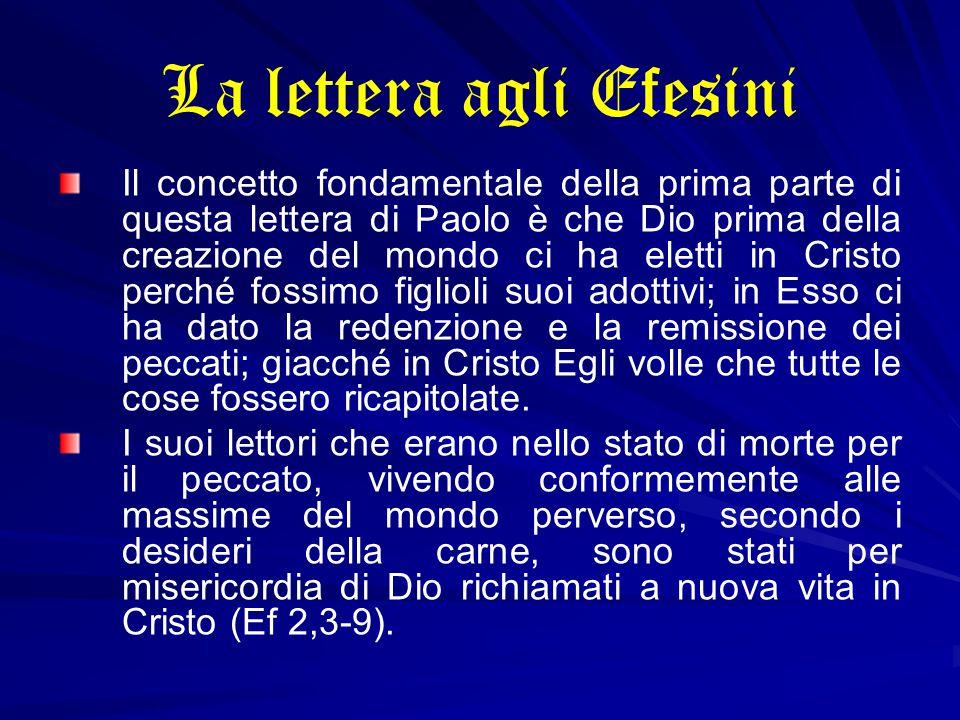 La lettera agli Efesini