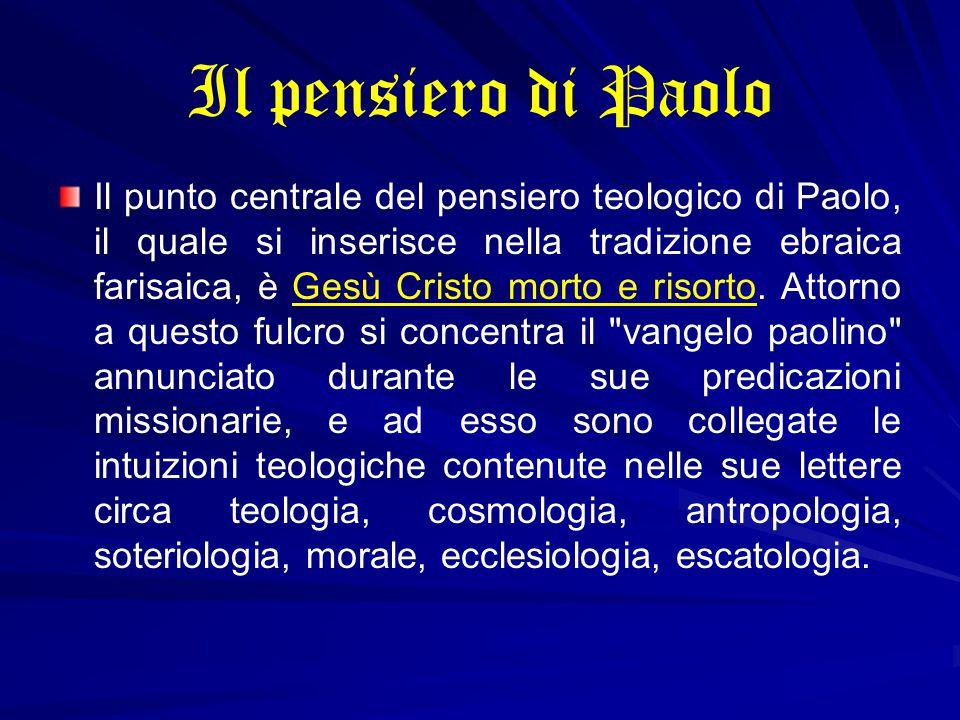 Il pensiero di Paolo
