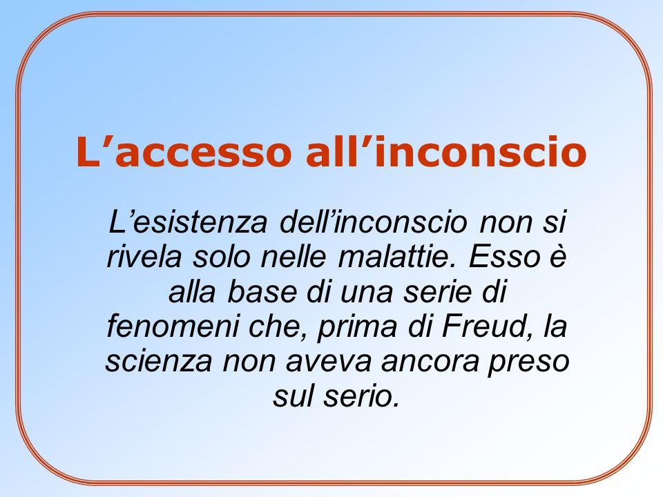 L'accesso all'inconscio