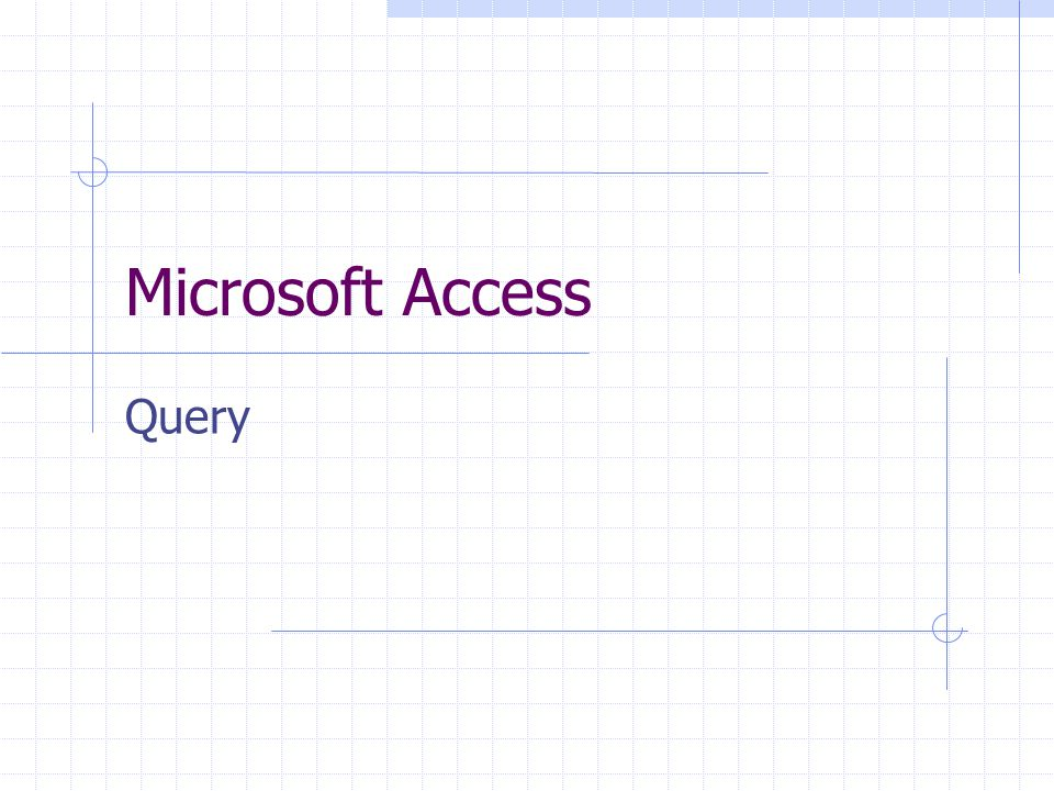 Microsoft Access Query