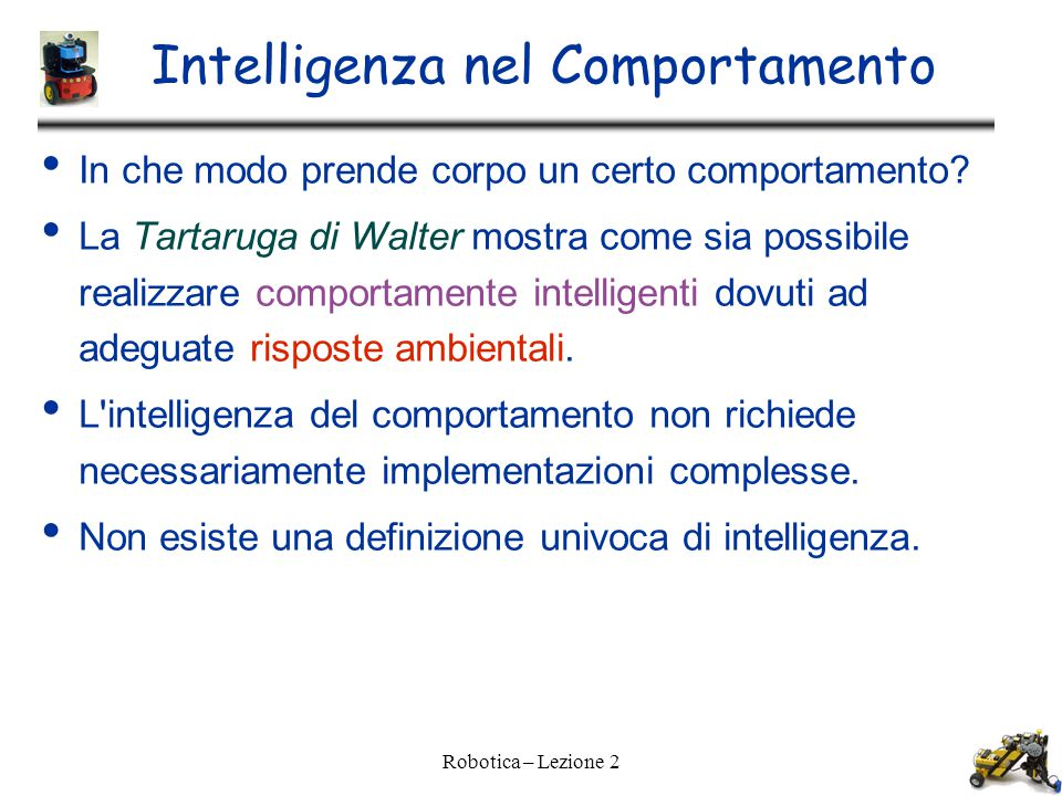 Intelligenza nel Comportamento