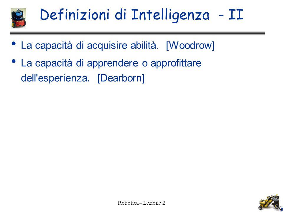 Definizioni di Intelligenza - II