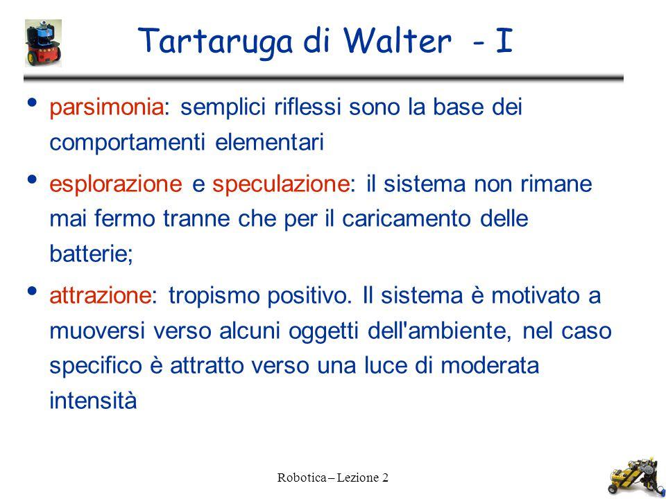 Tartaruga di Walter - I parsimonia: semplici riflessi sono la base dei comportamenti elementari.