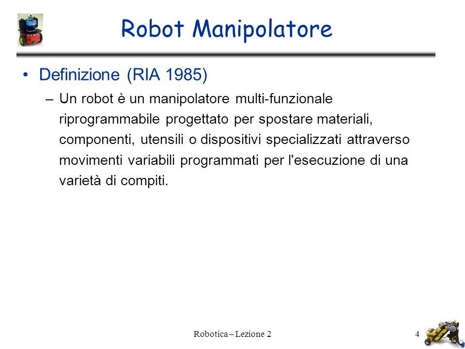 Robot Manipolatore Definizione (RIA 1985)