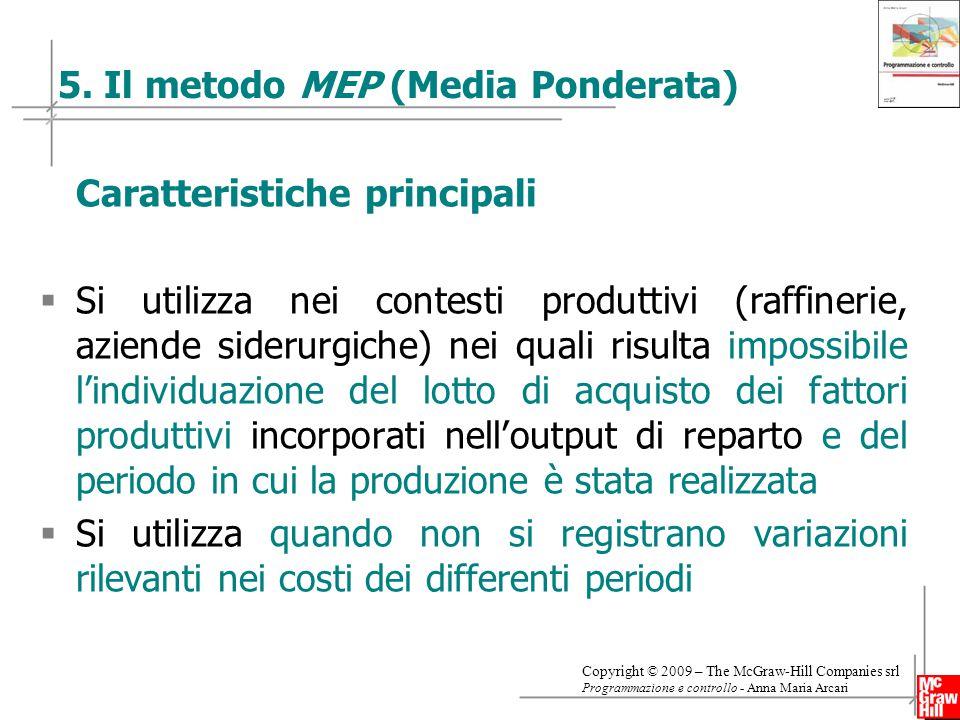 5. Il metodo MEP (Media Ponderata)