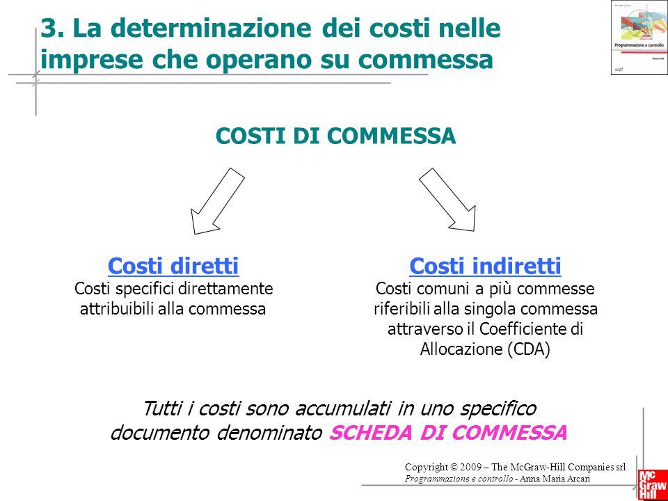 3. La determinazione dei costi nelle imprese che operano su commessa
