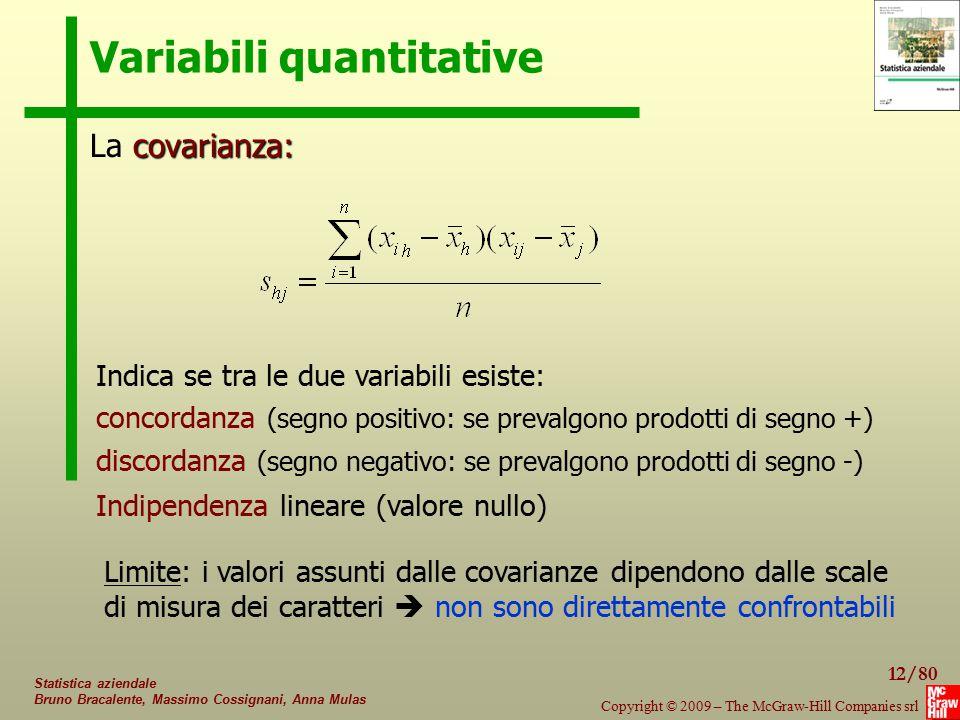 Variabili quantitative