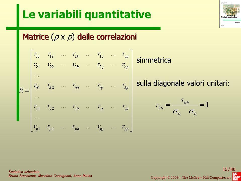 Le variabili quantitative