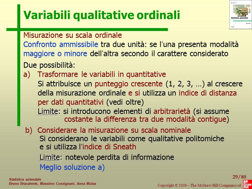 Variabili qualitative ordinali