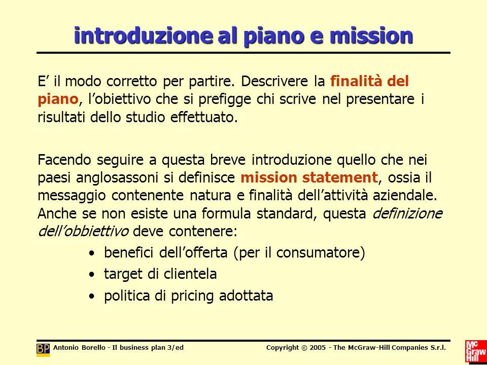 introduzione al piano e mission
