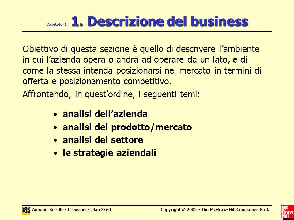 Capitolo 1 1. Descrizione del business