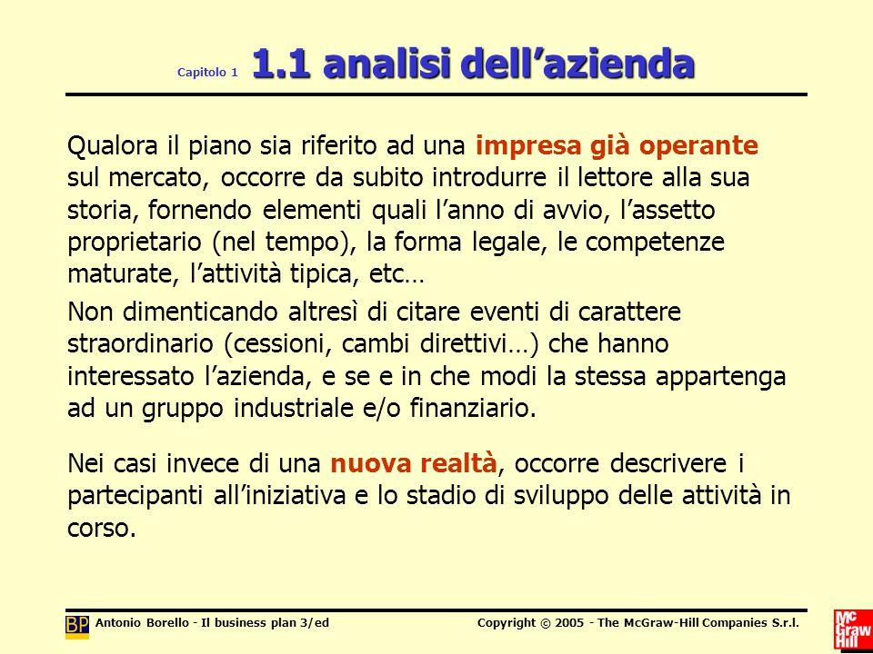 Capitolo 1 1.1 analisi dell'azienda