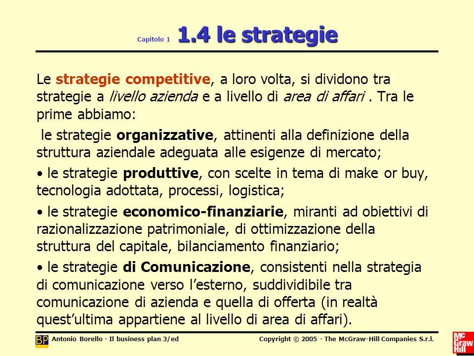 Capitolo 1 1.4 le strategie