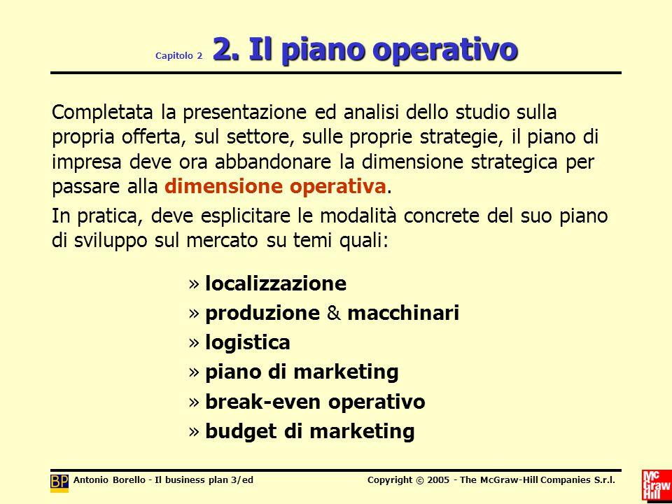 Capitolo 2 2. Il piano operativo