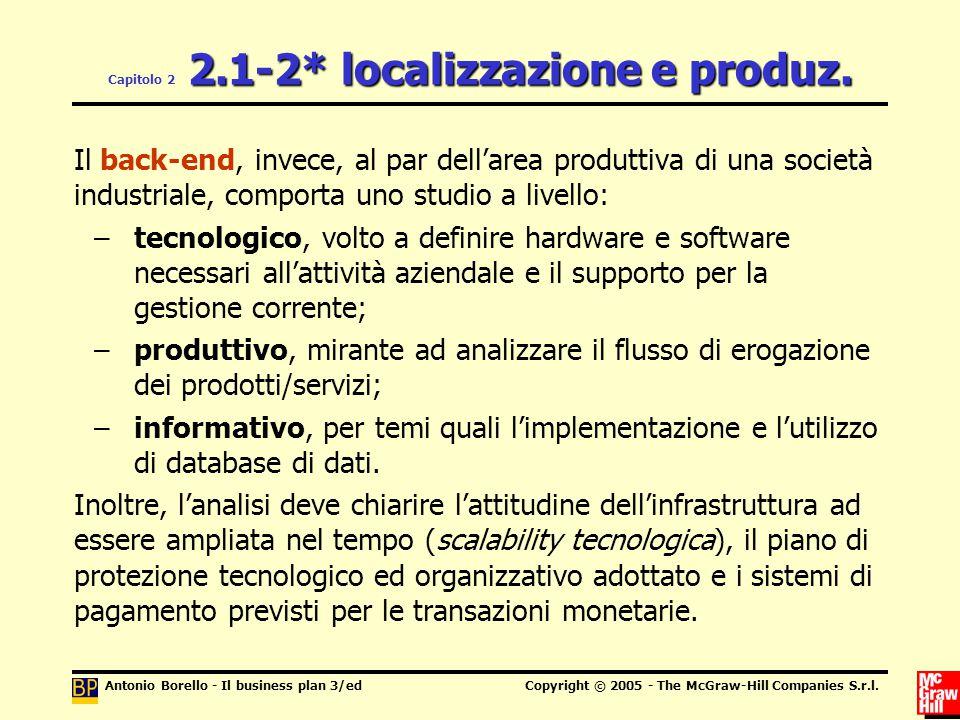 Capitolo 2 2.1-2* localizzazione e produz.