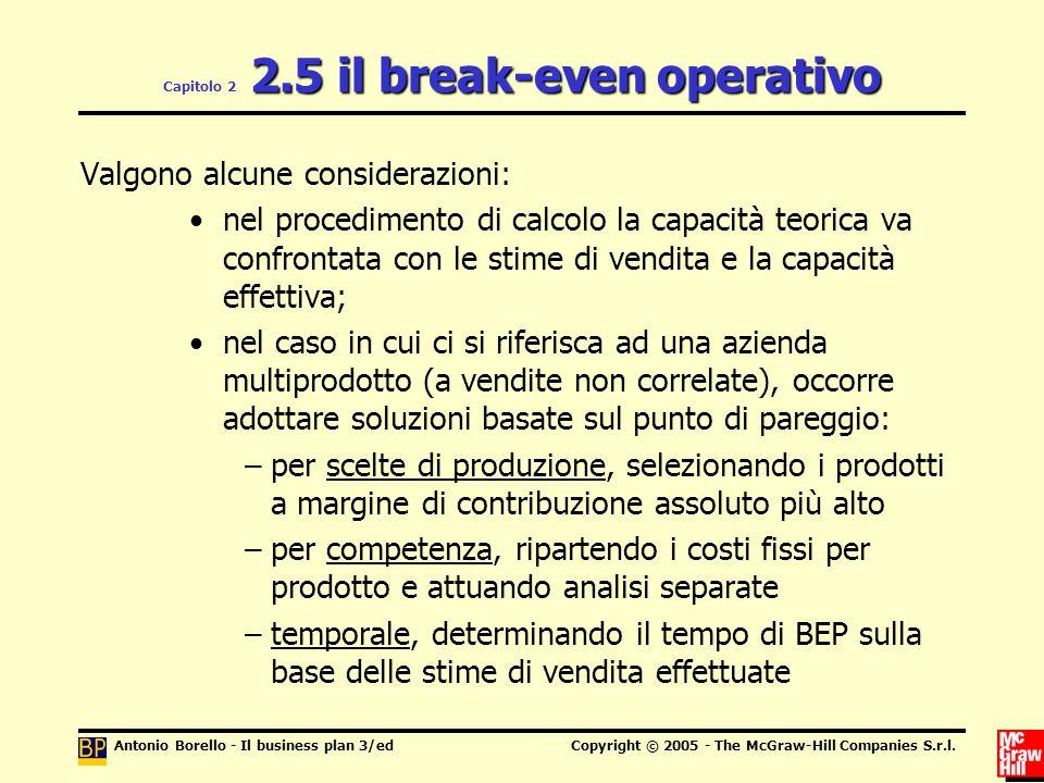 Capitolo 2 2.5 il break-even operativo