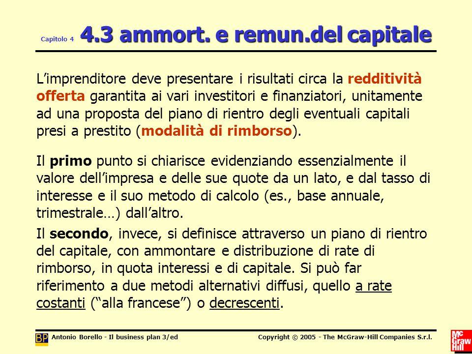 Capitolo 4 4.3 ammort. e remun.del capitale