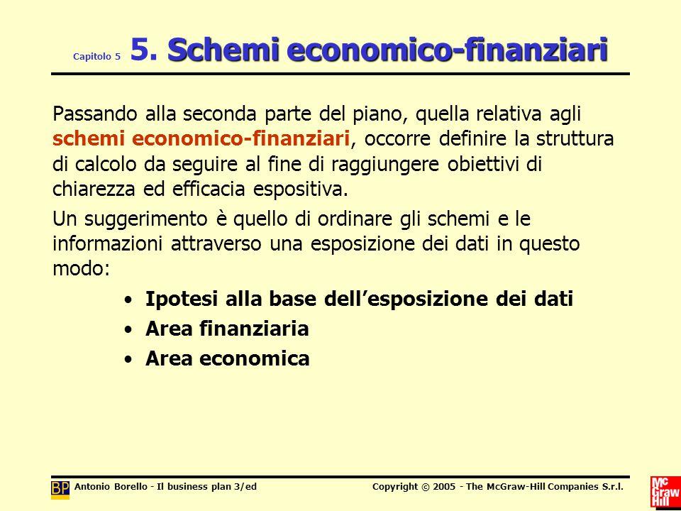 Capitolo 5 5. Schemi economico-finanziari