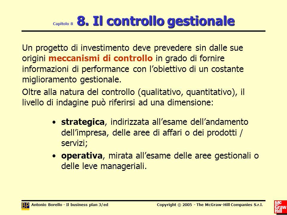 Capitolo 8 8. Il controllo gestionale