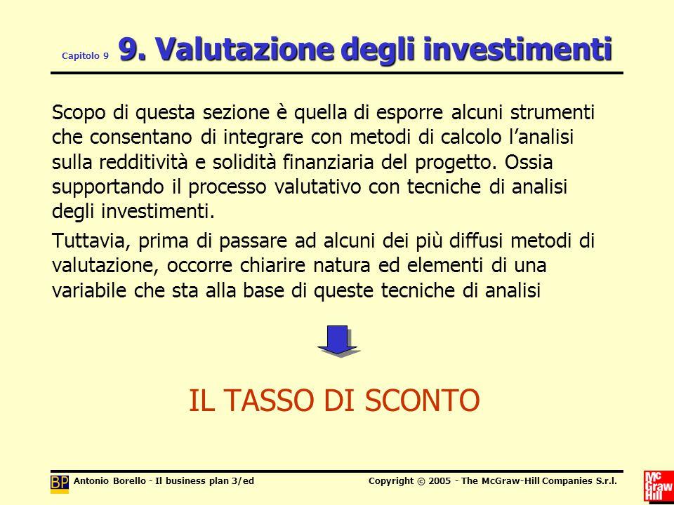 Capitolo 9 9. Valutazione degli investimenti