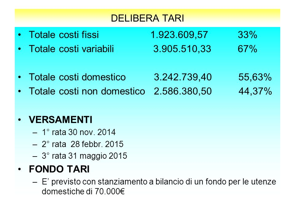 Totale costi variabili 3.905.510,33 67%