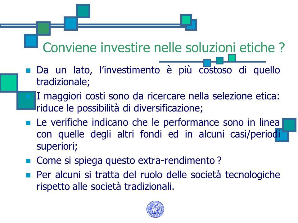 Conviene investire nelle soluzioni etiche