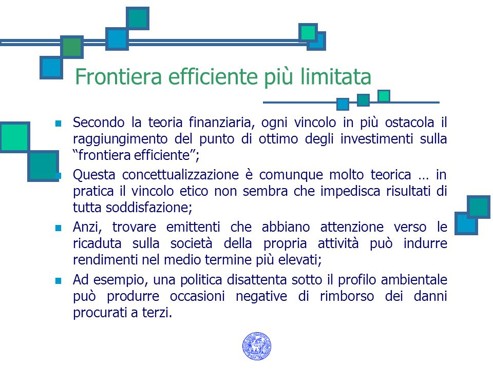 Frontiera efficiente più limitata
