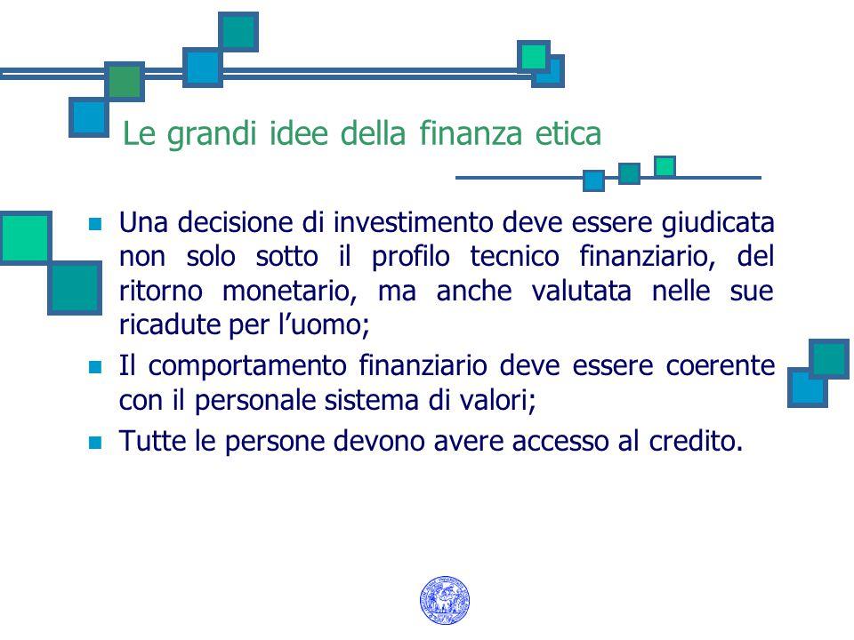 Le grandi idee della finanza etica