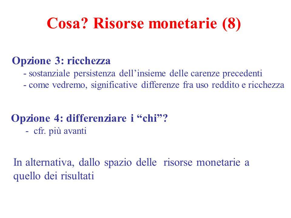 Cosa Risorse monetarie (8)