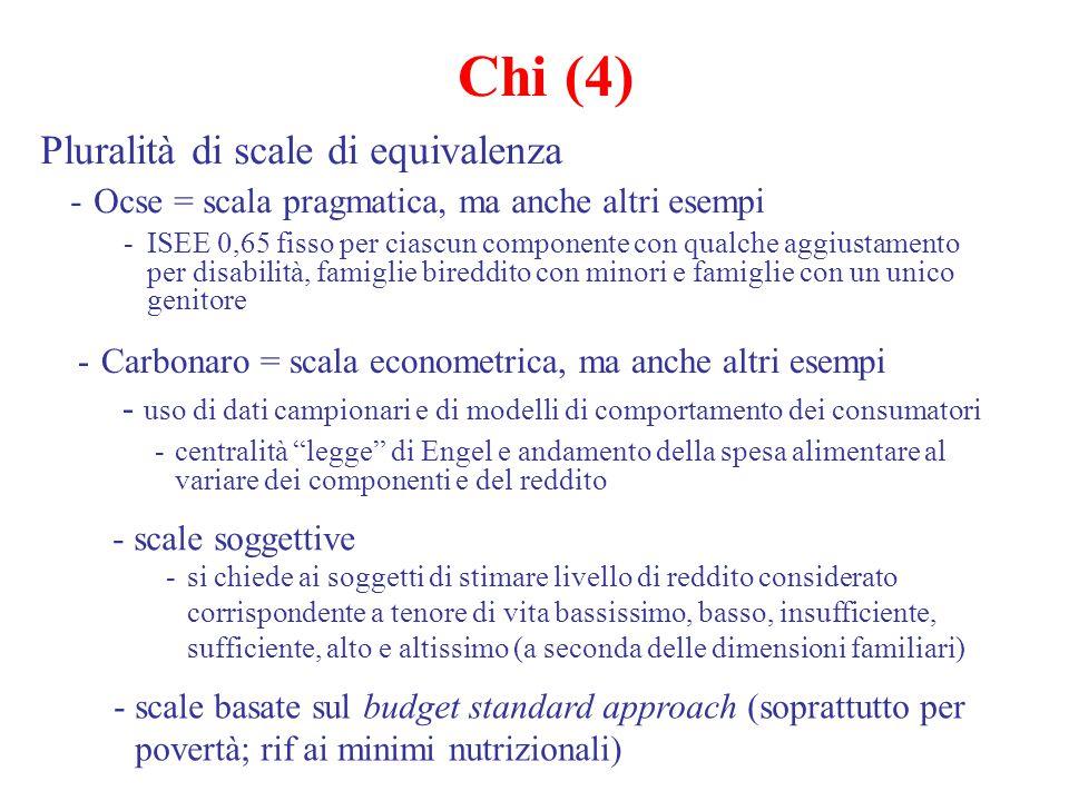 Chi (4) Pluralità di scale di equivalenza