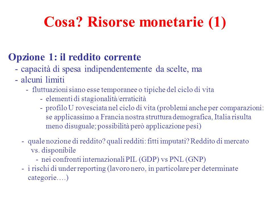 Cosa Risorse monetarie (1)
