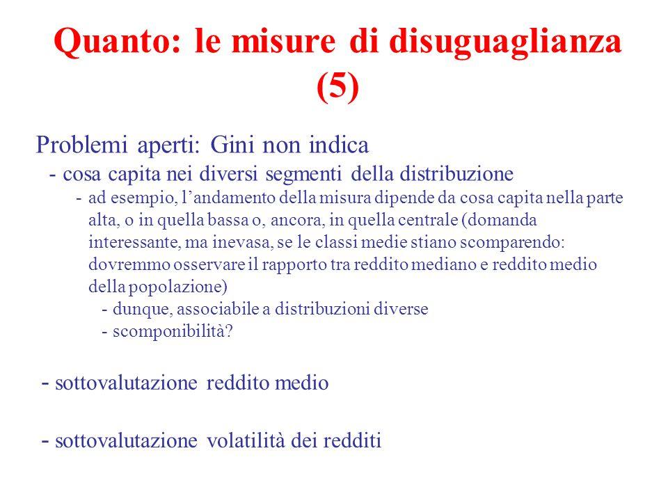 Quanto: le misure di disuguaglianza (5)