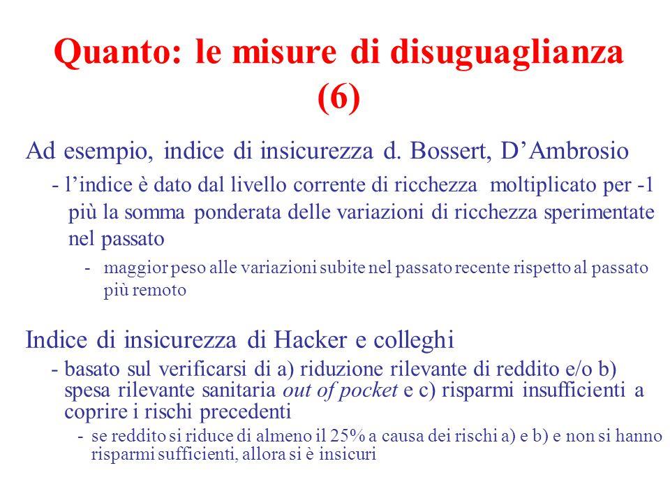 Quanto: le misure di disuguaglianza (6)