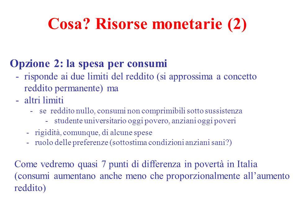 Cosa Risorse monetarie (2)