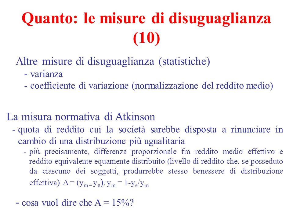 Quanto: le misure di disuguaglianza (10)