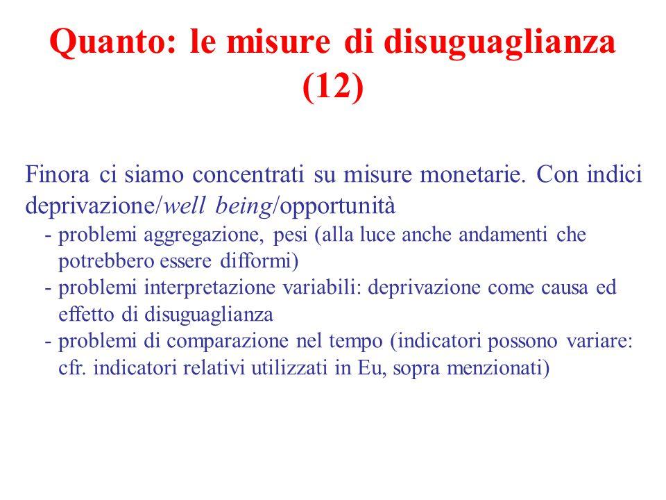 Quanto: le misure di disuguaglianza (12)