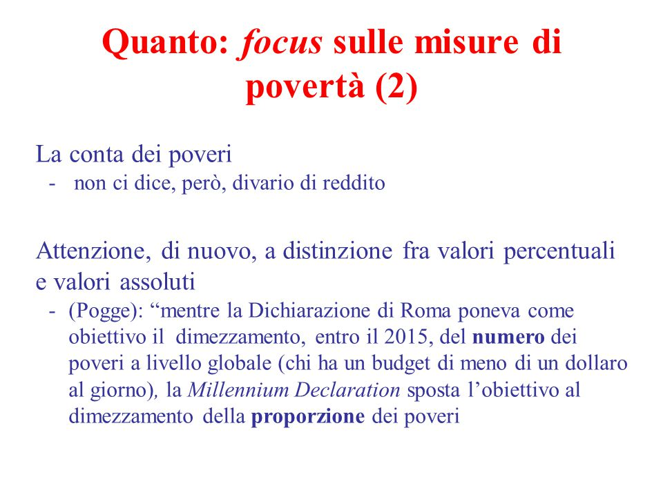 Quanto: focus sulle misure di povertà (2)