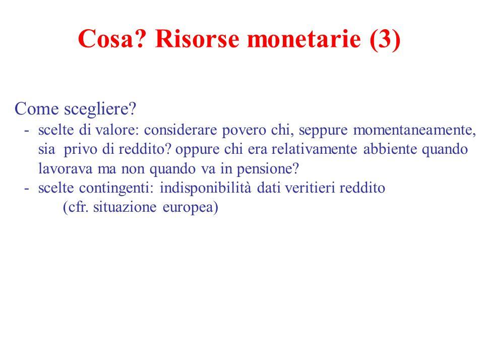 Cosa Risorse monetarie (3)