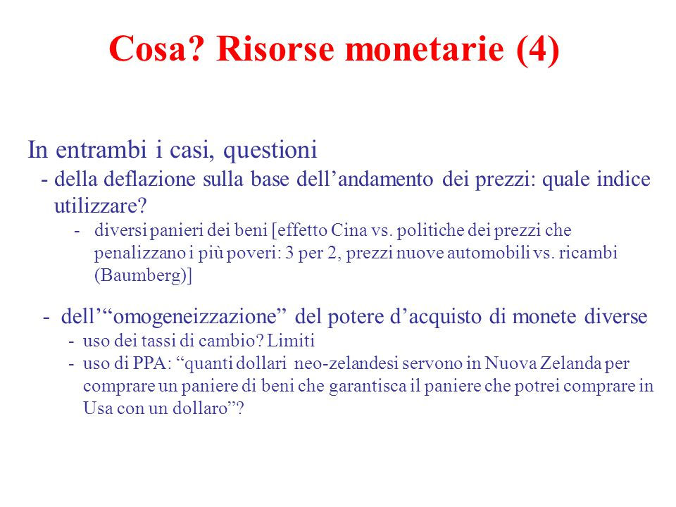 Cosa Risorse monetarie (4)