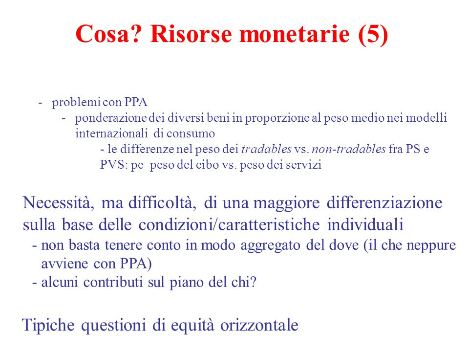 Cosa Risorse monetarie (5)
