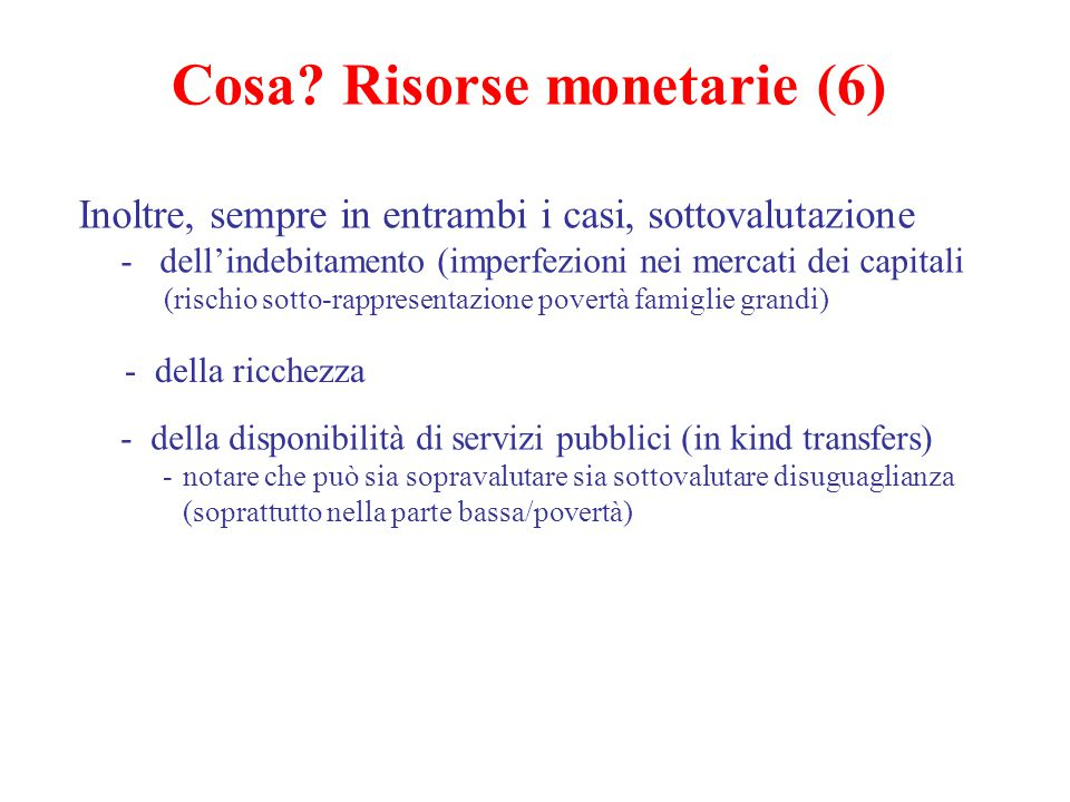 Cosa Risorse monetarie (6)