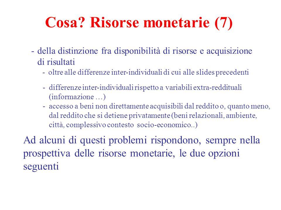 Cosa Risorse monetarie (7)