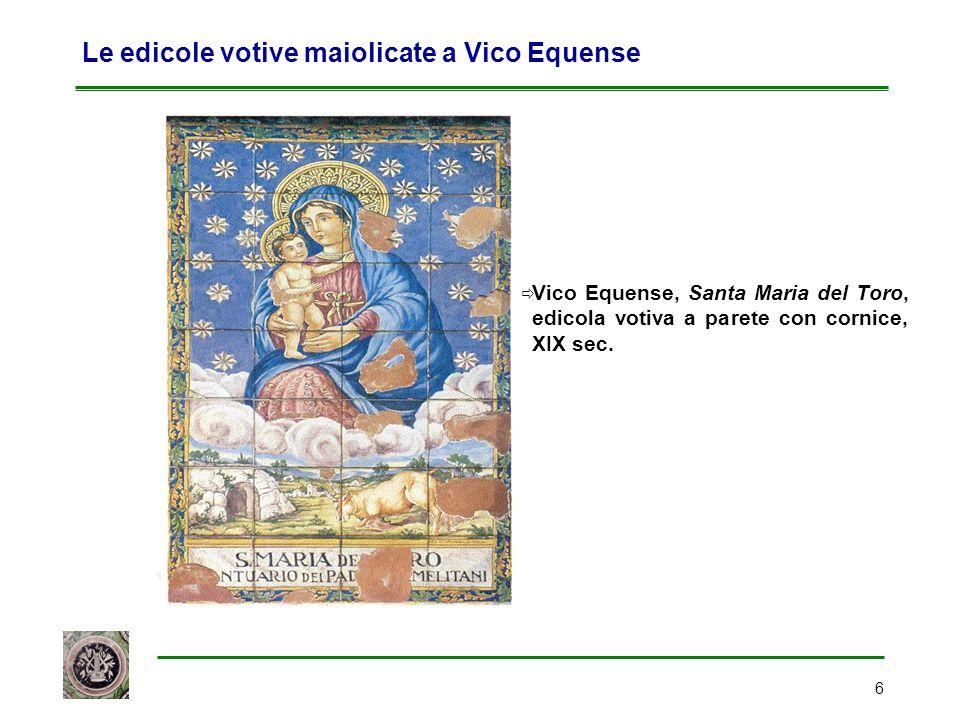 Le edicole votive maiolicate a Vico Equense