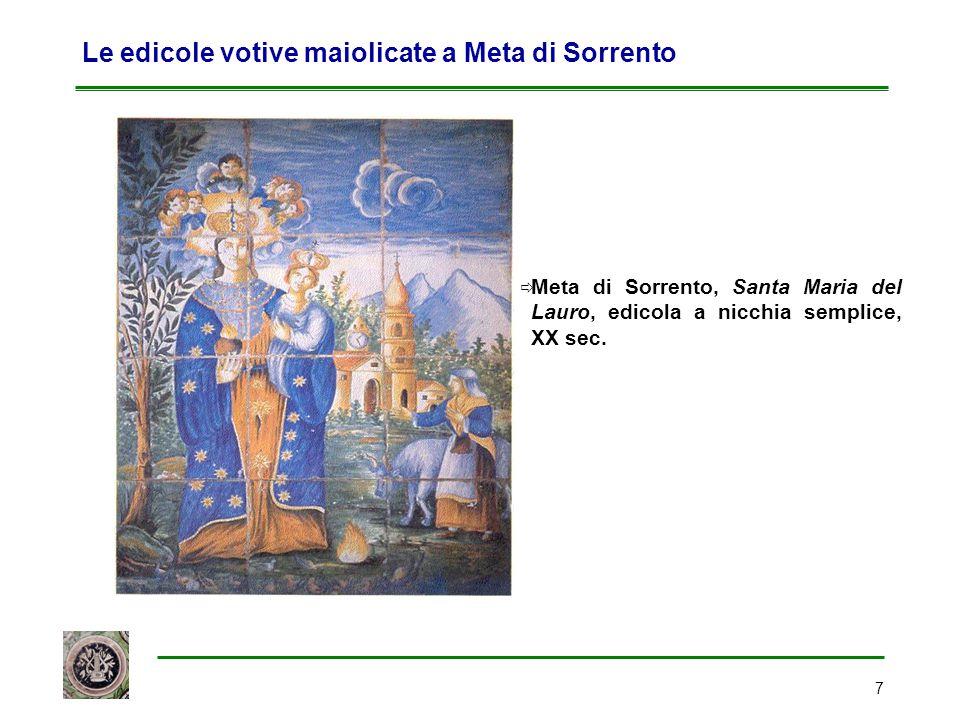 Le edicole votive maiolicate a Meta di Sorrento
