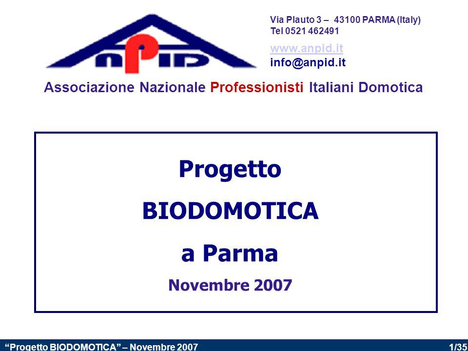 Progetto BIODOMOTICA a Parma
