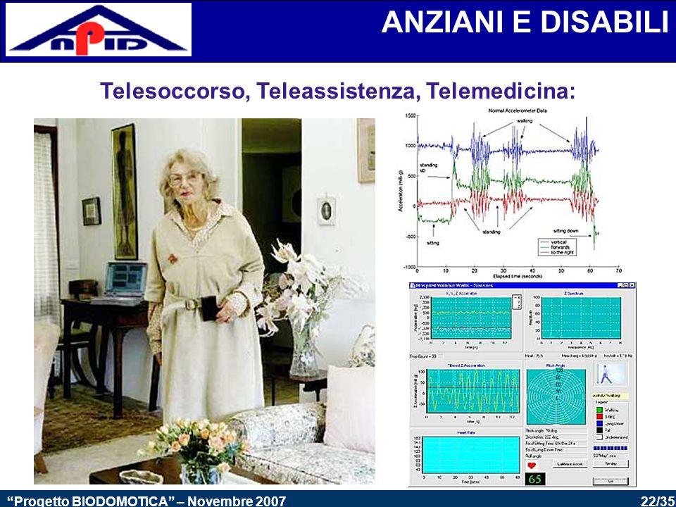 Telesoccorso, Teleassistenza, Telemedicina: