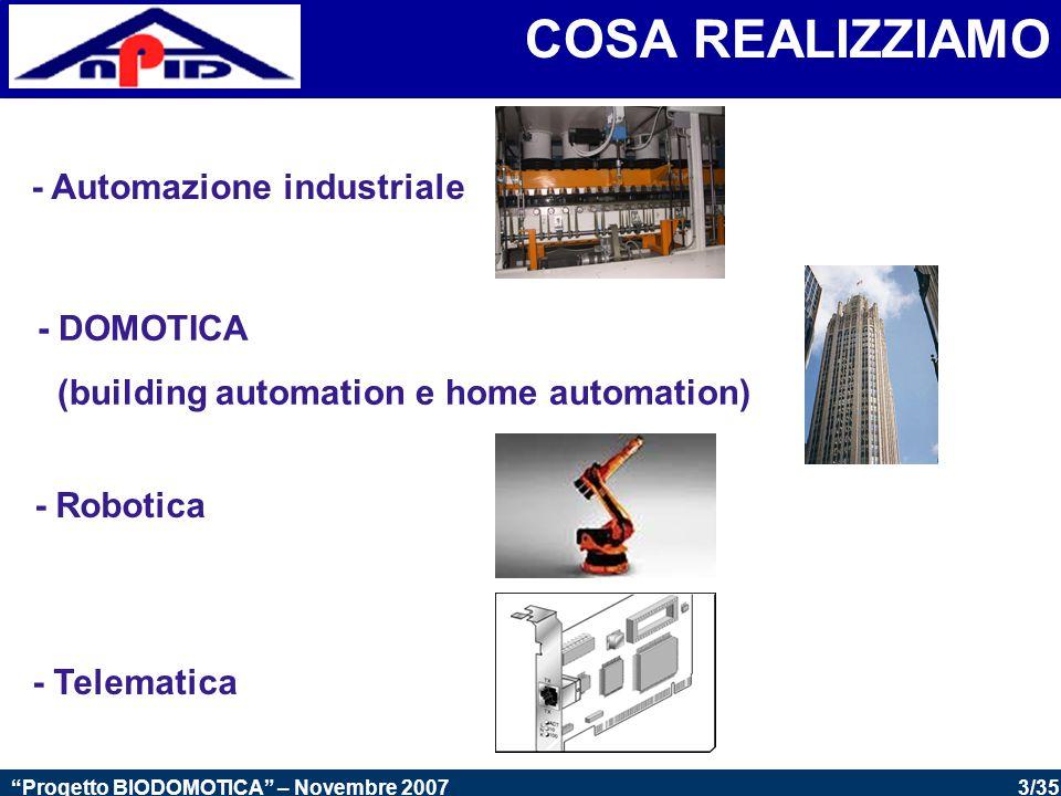 COSA REALIZZIAMO - Automazione industriale - DOMOTICA