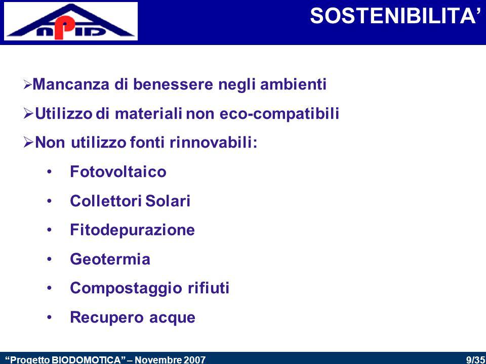 SOSTENIBILITA' Utilizzo di materiali non eco-compatibili