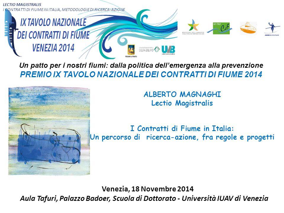 LECTIO MAGISTRALIS I CONTRATTI DI FIUME IN ITALIA, METODOLOGIE DI RICERCA-AZIONE.
